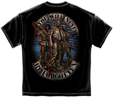 """""""You Will Never Be Forgotten"""" Vietnam T-Shirt"""