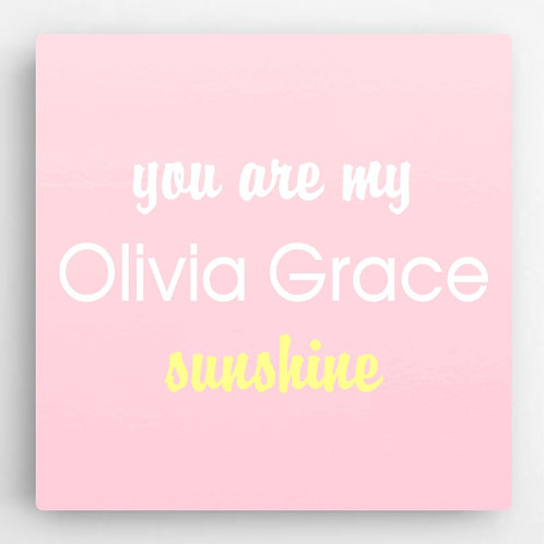 Personalized Pastel Girls Canvas Sign