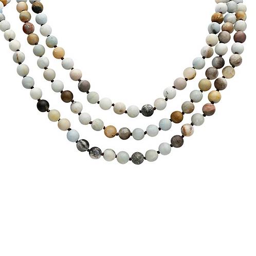 """Multi-Color Amazonite 36"""" Continuous Necklace"""