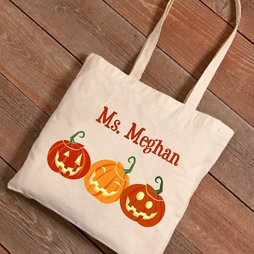 Personalized Fall Canvas Tote