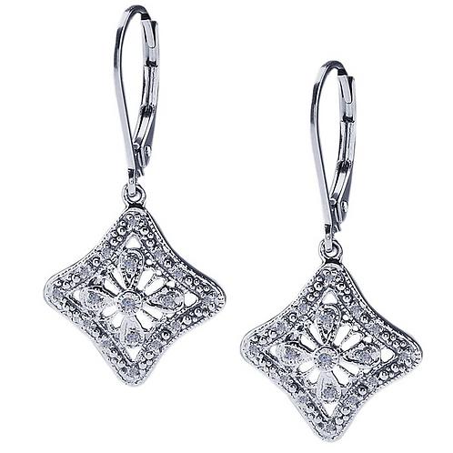 Duchess Sterling Silver Diamond-Set Earrings