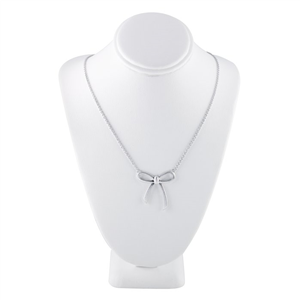 "Silver ""Diamond Dust"" Bow Festoon Necklace"