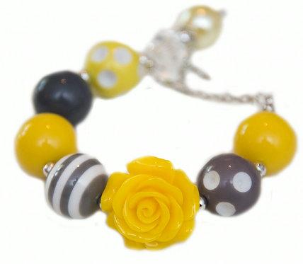 Yellow & Dark Grey Bracelet