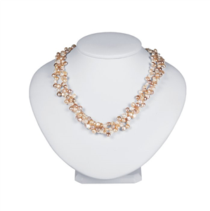 """Pink Lady"" Freshwater Cultured Pearl Necklace"