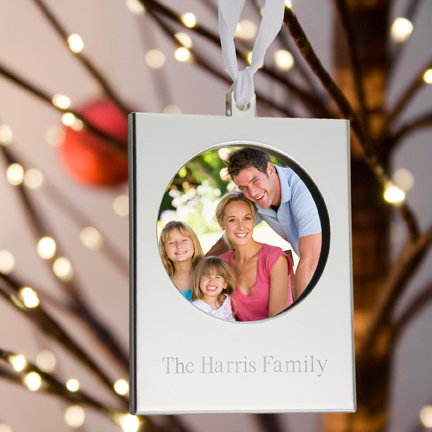 Personalized Frame Christmas Ornament