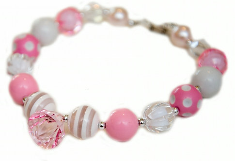 Light Pink & White Necklace