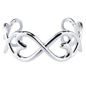 Sterling Silver Hearts Against Abuse Bracelet