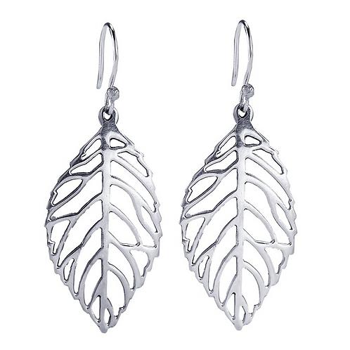 Sterling Silver Leaves Earrings