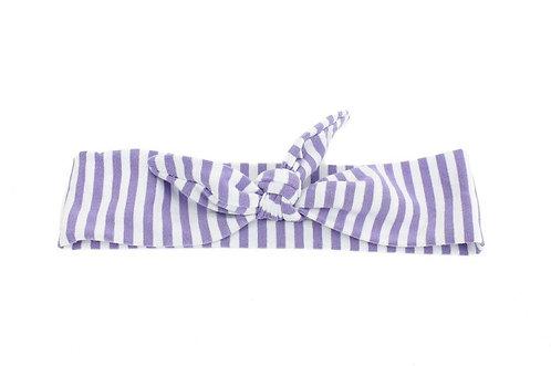 Lavendar Stripe Knotted Headband