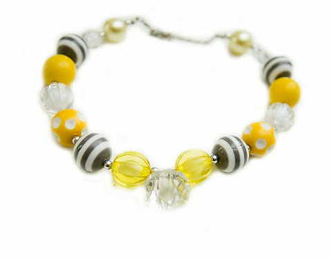 Yellow & Grey Necklace