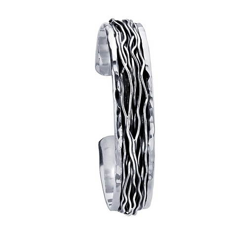 Sterling Silver Wire Inlay Cuff Bracelet