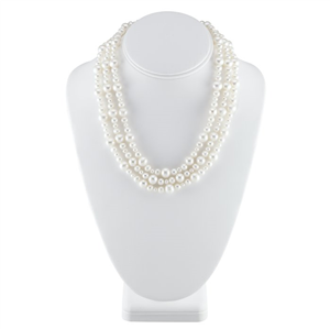 White Freshwater Pearl Three-Strand Necklace