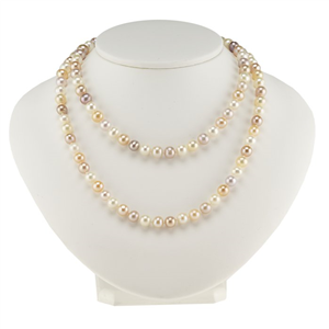 Multi-Color Freshwater Continuous Pearl Necklace