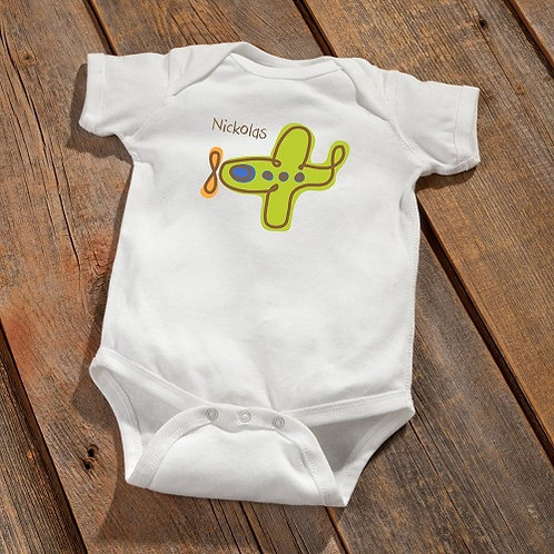 Personalized Baby Boy Booty Bodysuit