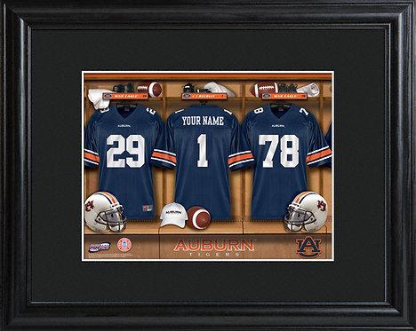 Personalized College Football Locker Room Print