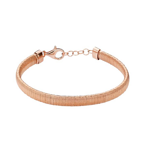 Sterling Silver Rose Gold-Plated Wire Bracelet