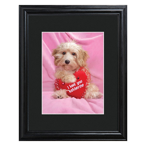 Personalized Puppy Love Framed Print