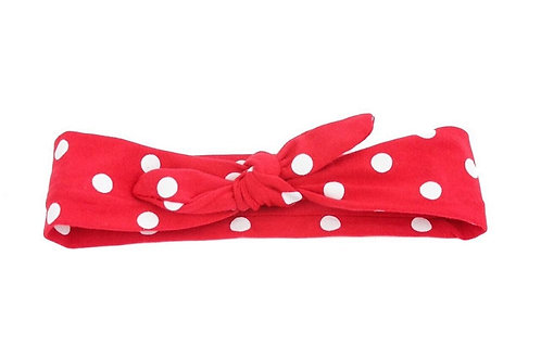 Polka Dot Knotted Headband - 5 Colors