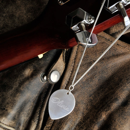 Personalized Guitar Pick Necklace