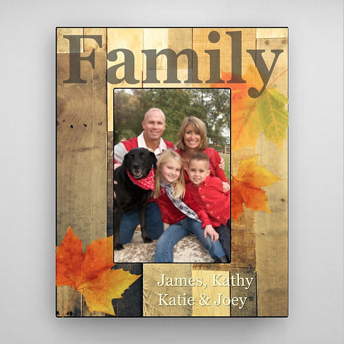 Family Fall Picture Frame - Leaves