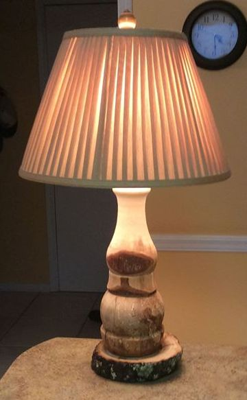 Tree Bark Rustic Lamp