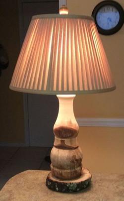 Tree Bark Rustic Lamp