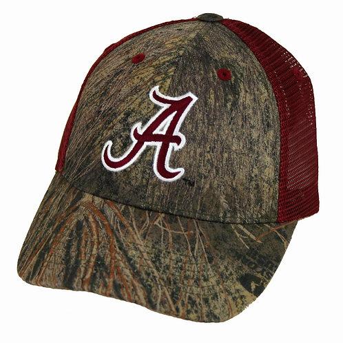 Alabama Crimson Tide Camo Cap Two Tone Mesh Back