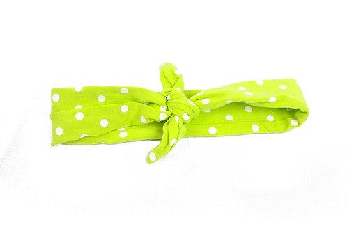 Small Polka Dot Knotted Headband - 3 Colors