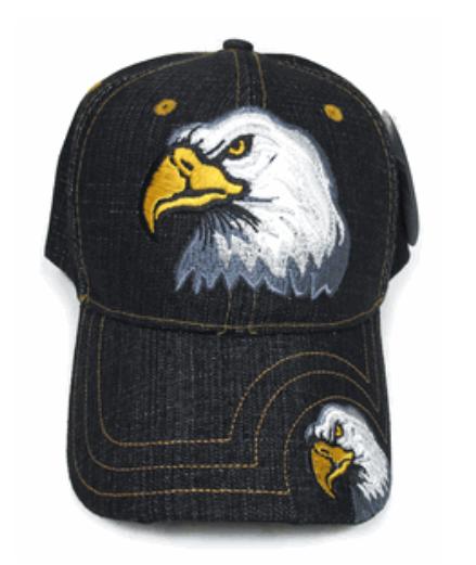 """""""This We Will Defend"""" Eagle Denim Cap"""