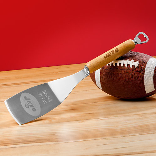 Engraved NFL BBQ Spatula/Bottle Opener