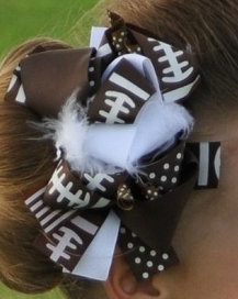 """Football/5.5"""" Feather Korker Bow"""