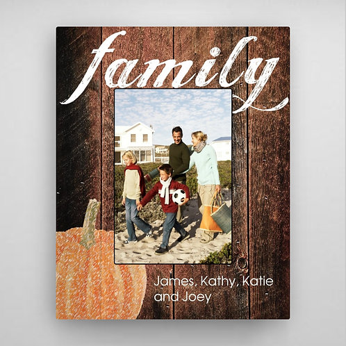 Family Fall Picture Frame - Pumpkin
