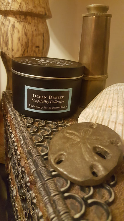 Ocean Breeze Scented Soy Candle Travel Tin