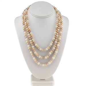Multi-Color Freshwater Semi-Round Pearl Necklace