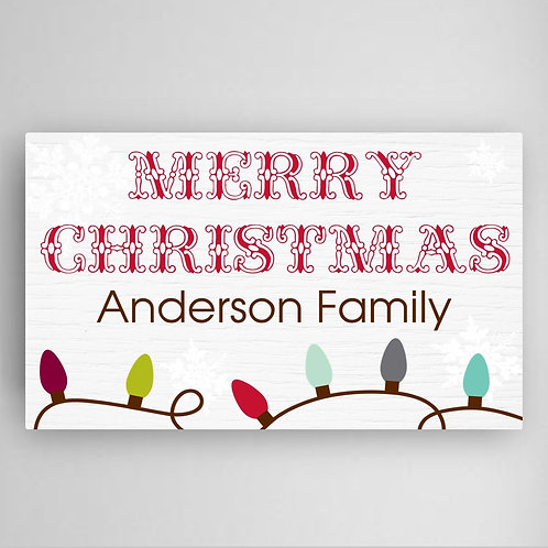 Christmas Lights Canvas Wall Art