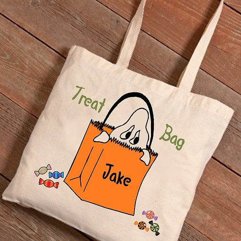Personalized Halloween Trick-Or-Treat Canvas Bag