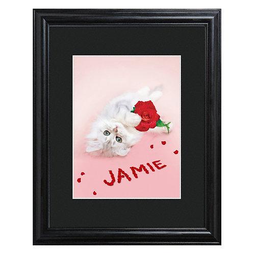 Rosy Kitten Precious Pet Print
