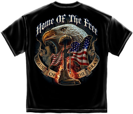 Home Of Free Because Of The Brave T-Shirt