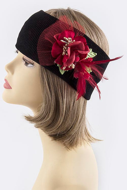 Christmas Ornate Accent Stretchable Headwrap