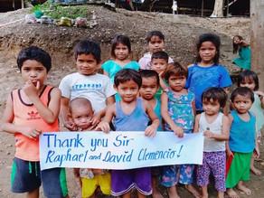 Spende für die Philippinen nach Davao, Haran