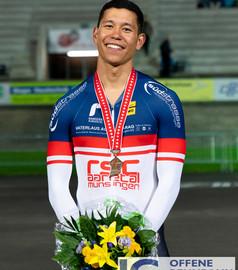 3. Rang Schweizermeisterschaften Elite, Bahn, Sprint Omnium