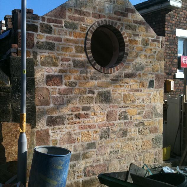 New build gable end oxton