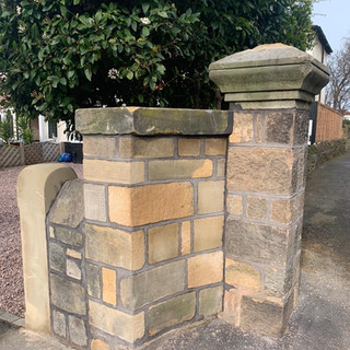 Gate post wall rebuild