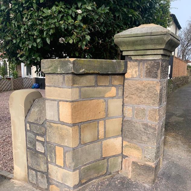 Gate post wall rebuild