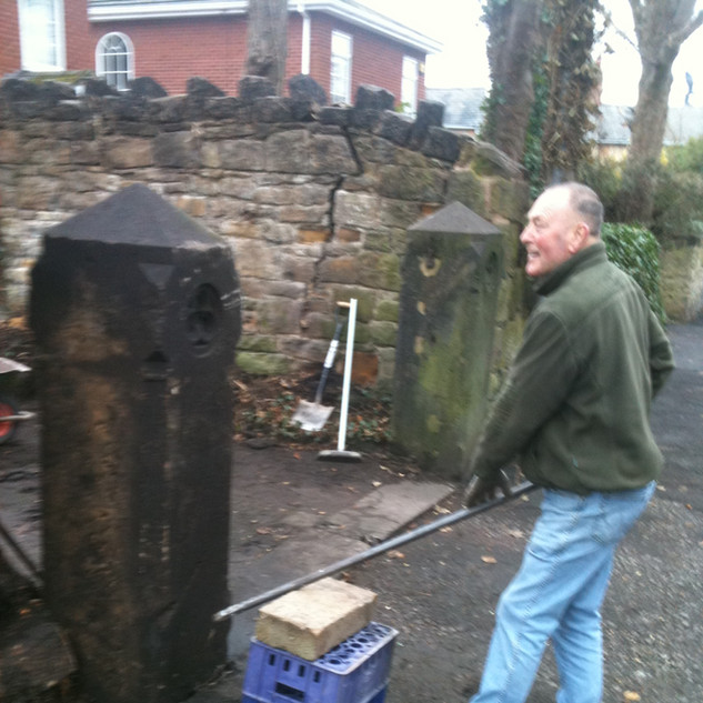 Re arrected gate post Oxton