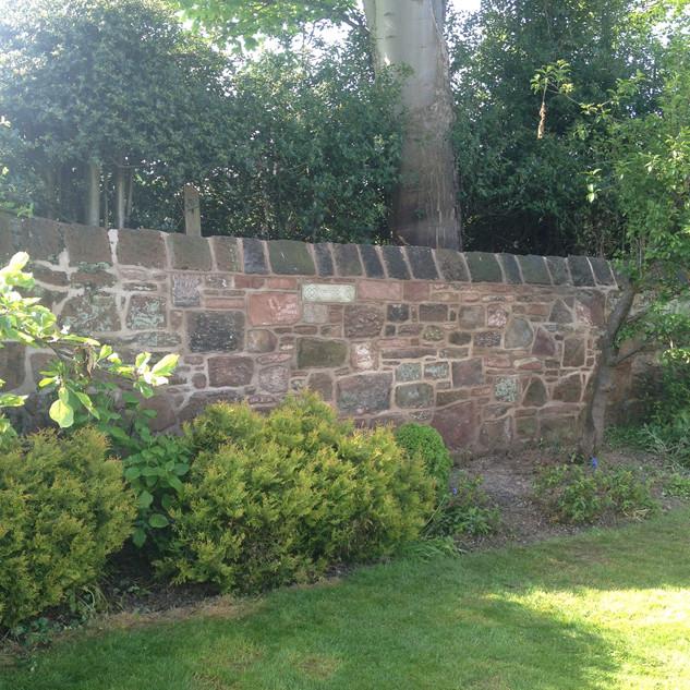 Garden wall take down and rebuild.