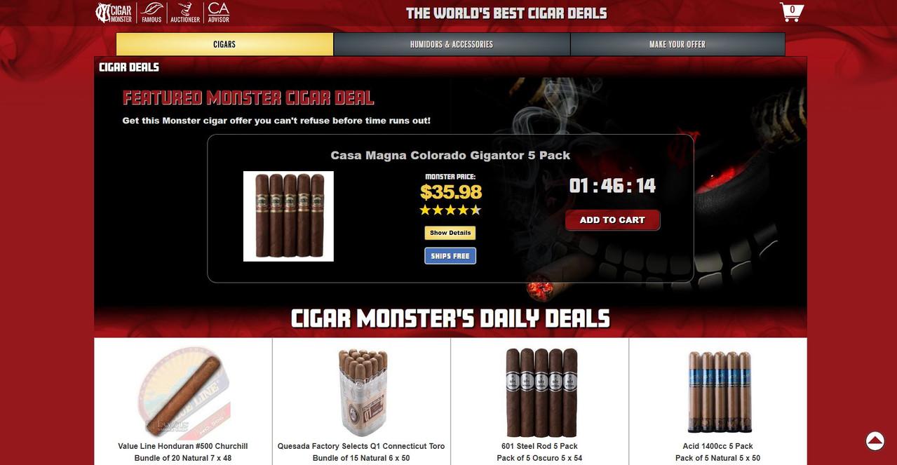 Cigar Monster 2.0 screenshot