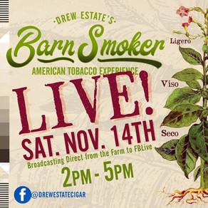 Drew Estate Announces the Barn Smoker LIVE November 14th