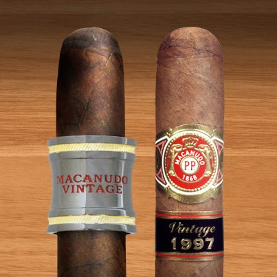 Macanudo Vintage 2006 (left) and Macanudo Vintage 1997 (right) - Courtesy of General Cigar Company