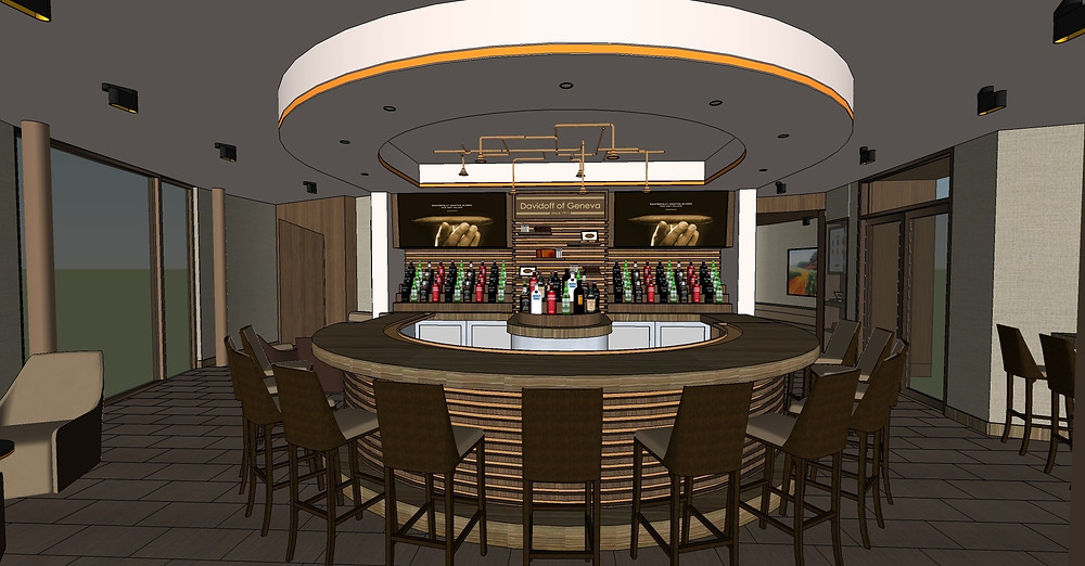 Artist rendering of Davidoff Cigar Bar, Las Vegas